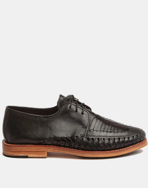 Zapata Black Men's Leather Shoes-Oxford & Derby-CANO-MAMOQ