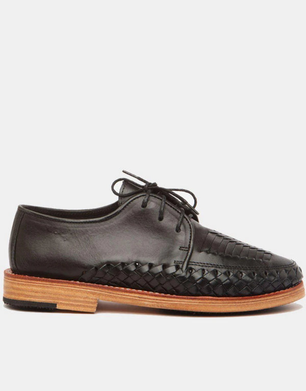 Zapata Black Women's Leather Shoes-Oxford & Derby-CANO-MAMOQ