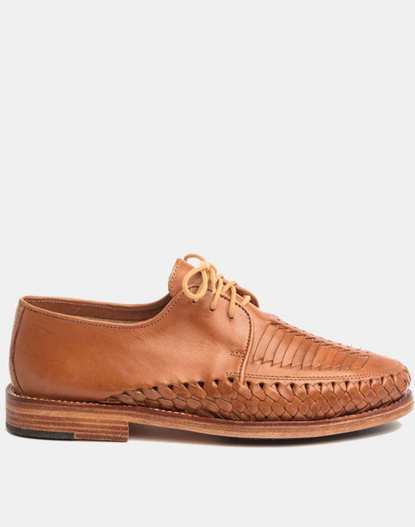 Zapata Cognac Men's Leather Shoes-Oxford & Derby-CANO-MAMOQ