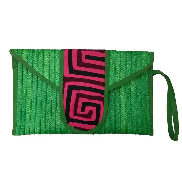 Zenú Green Caña Flecha Clutch Bag-Untold Treasures-MAMOQ