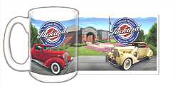 15 oz Ceramic Mug featuring 1936 120 Convertible and 1937 Business Coupe