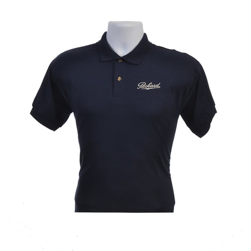 Men's Packard Script Polo Shirt in Black or White