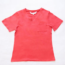 Load image into Gallery viewer, Highlands V-Neck Pocket Tee in Red