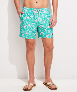 Vineyard Vines - Printed Chappy Trunks - Palm Hibiscus