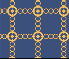 Load image into Gallery viewer, Navy/Gold Autumn Chain Dress