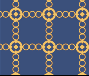 Navy/Gold Autumn Chain Dress