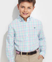 Load image into Gallery viewer, Vineyard Vines - Boys' Palm Beach Poplin Plaid Whale Button-Down Shirt