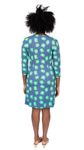 Navy/Green Cheetah Dress