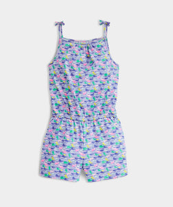 Vineyard Vines - Girls' Printed Knit Romper