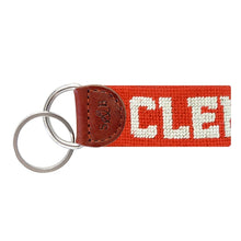 Load image into Gallery viewer, Clemson Needlepoint Key Fob