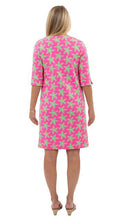 Load image into Gallery viewer, Marina Dress 3/4 Sleeve - Pink/Green Sea Star