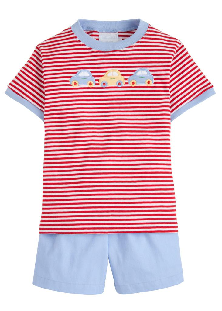 LITTLE ENGLISH - CARS T-SHIRT SHORT SET