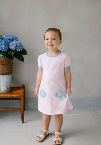 LITTLE ENGLISH - FISHIES T-SHIRT DRESS
