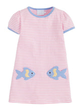 Load image into Gallery viewer, LITTLE ENGLISH - FISHIES T-SHIRT DRESS