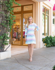 Marina Dress 3/4 Sleeve - Rainbow Link
