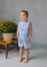 Load image into Gallery viewer, LITTLE ENGLISH - WATERMELON SARATOGA ROMPER
