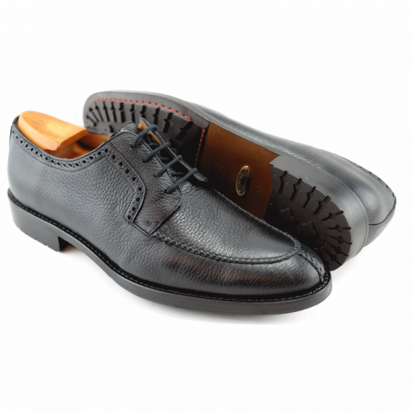 ALAN PAYNE'S WIMBLEY DEERSKIN LACE-UP OXFORD IN BLACK
