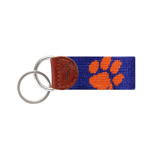 Clemson Needlepoint Key Fob