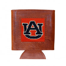 Load image into Gallery viewer, Auburn (Orange) Needlepoint Can Cooler