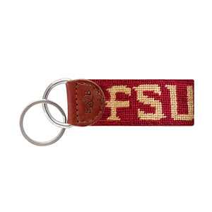 Florida State Needlepoint Key Fob