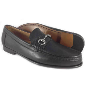Alan Pane Snaffle bit loafer Black