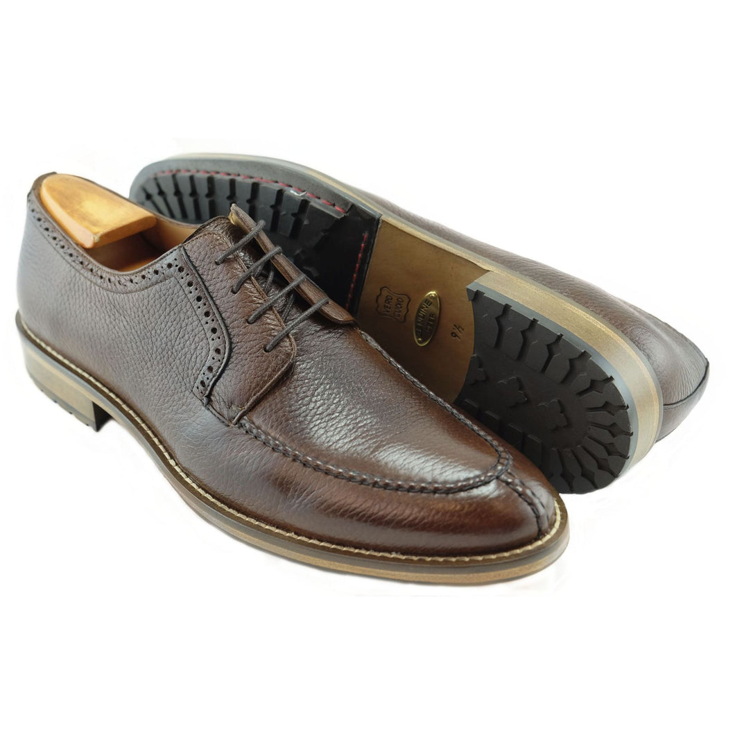ALAN PAYNE'S WIMBLEY DEERSKIN LACE-UP OXFORD IN ANTIQUE HONEY