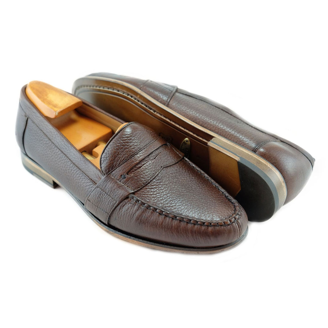 WELLESLEY DEERSKIN LOAFER IN ANTIQUE HONEY BY ALAN PAYNE