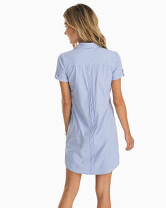 SOUTHERN TIDE - KAMRYN BRRR® INTERCOASTAL GINGHAM SHIRT DRESS