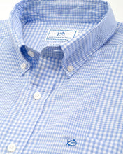 Load image into Gallery viewer, SOUTHERN TIDE - COASTAL PASSAGE ONSHORE GINGHAM SPORT SHIRT - SKY BLUE