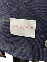 Load image into Gallery viewer, Samuelsohn Navy and Green window pane