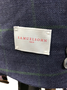 Samuelsohn Navy and Green window pane