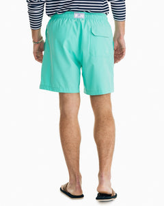 SOUTHERN TIDE - SOLID SWIM TRUNK - COCKATOO