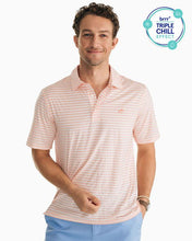 Load image into Gallery viewer, SOUTHERN TIDE - STRIPED DRIVER BRRR® PERFORMANCE POLO SHIRT