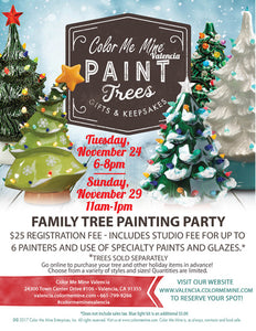 Family Christmas Tree Painting Party