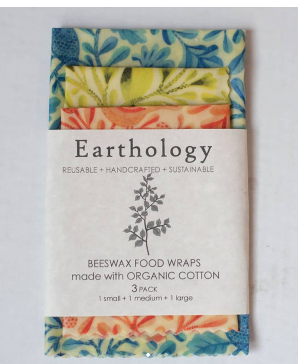 Beeswax Wraps - 3 Wrap Variety