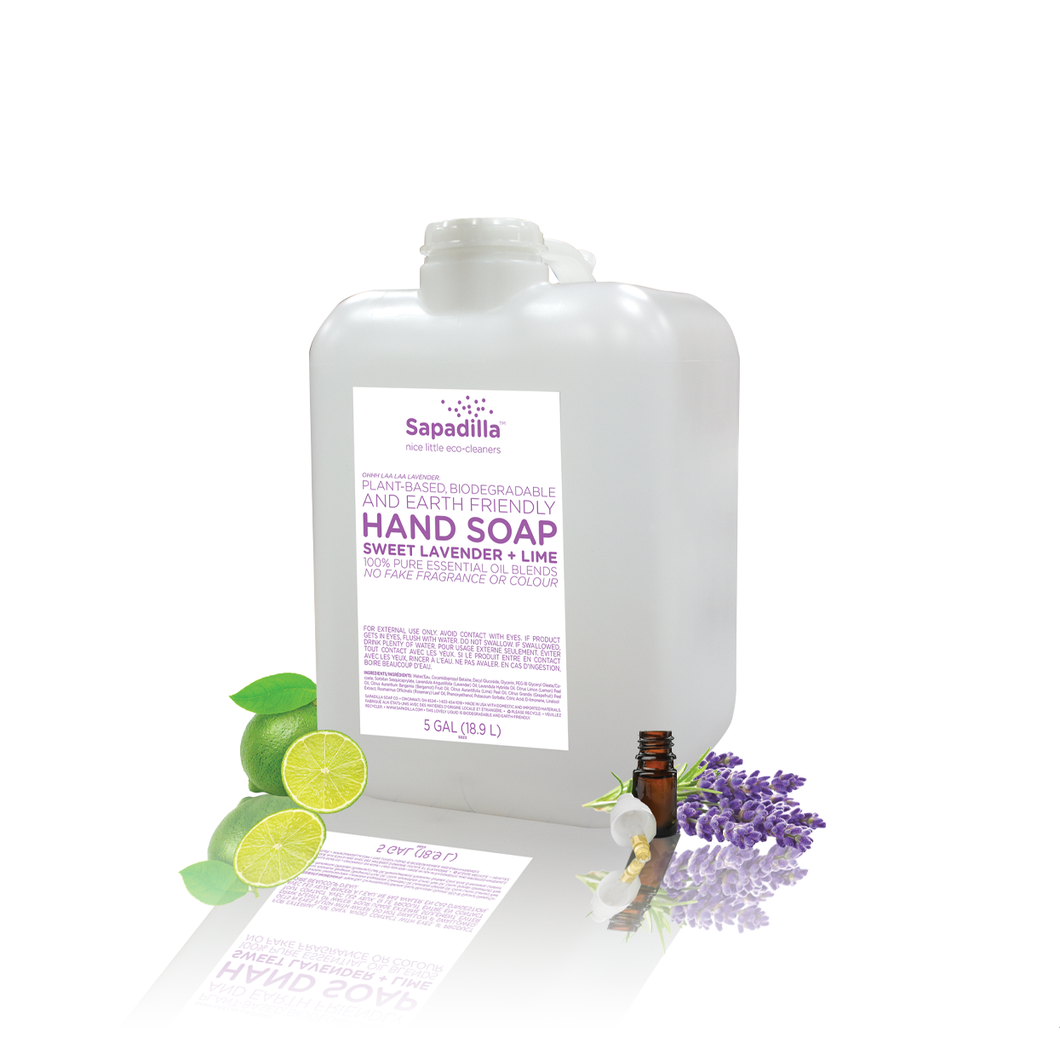 Sapadilla Hand Soap - BULK - Sweet Lavender and Lime