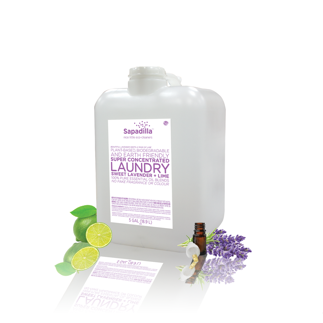 Sapadilla Laundry Liquid - BULK - Sweet Lavender and Lime