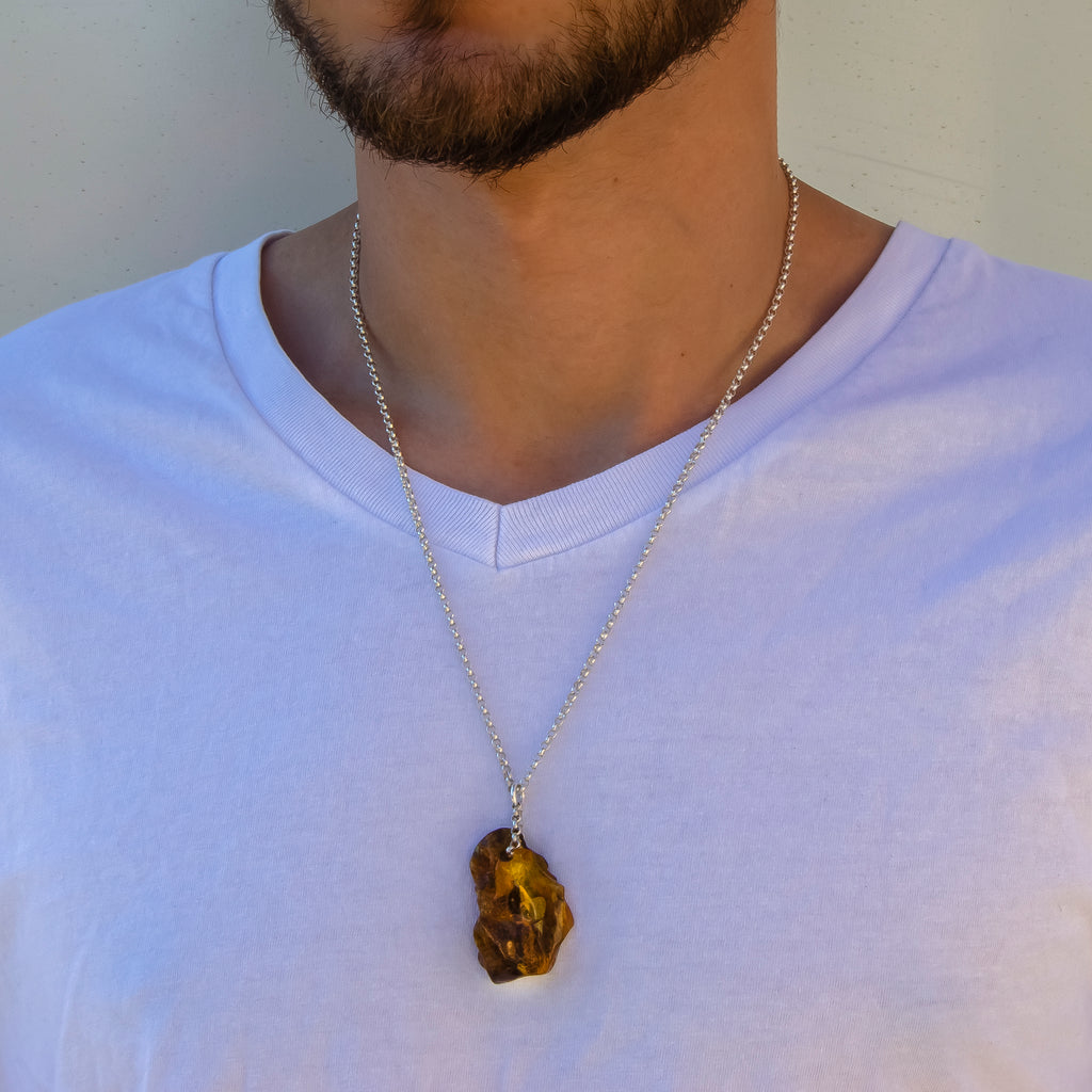 +Certificate NATURAL AMBER 14338 Silver 925