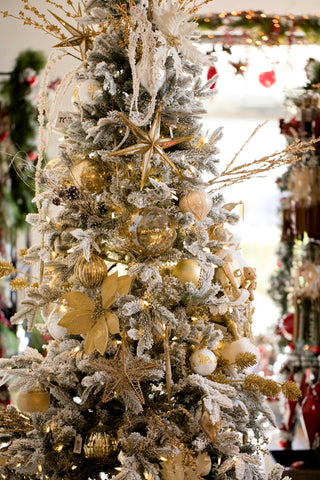 gold and white christmas tree