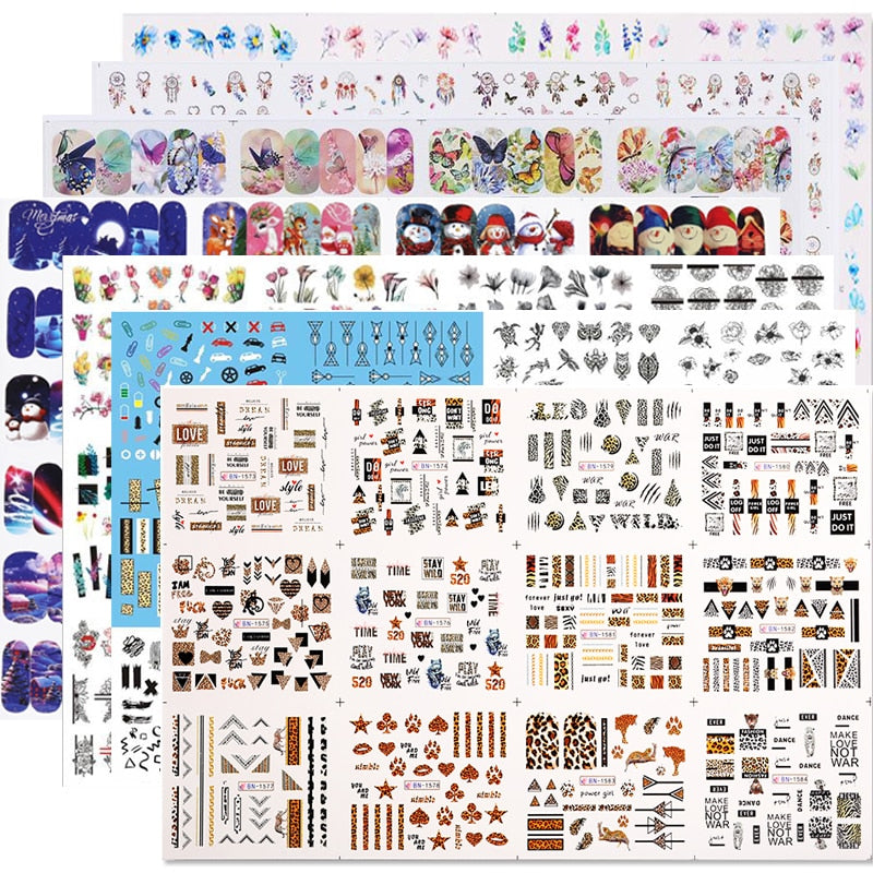 Nail Art KITS temáticos de 12 cartelas