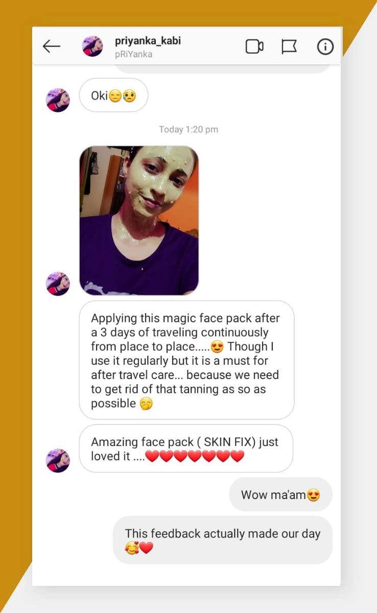Face pack Review