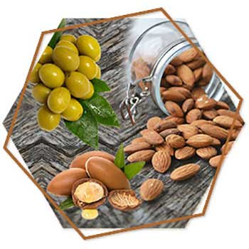 Almond, Olive and Argan oil