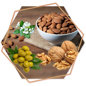 Almond, Olive, Bhringraj Oil Argan oil Walnut Oil