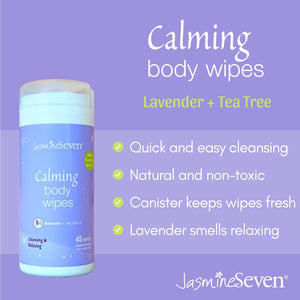 Calming Body Wipes – Natural Lavender and Tea Tree