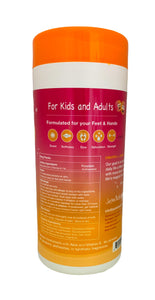 Fresh Feet Wipes for Kids - Grapefruit Canister