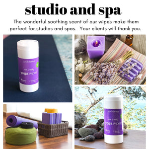 Yoga Mat & Body Wipes - Lavender Tea Tree Canister