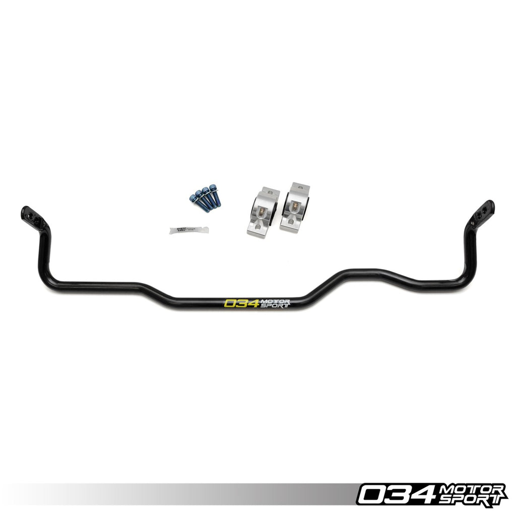 034Motorsport ADJUSTABLE MQB SOLID REAR SWAY BAR UPGRADE -- Audi (Mk3) A3/S3 & TT/TTS Quattro; Volkswagen (Mk7) Golf R;