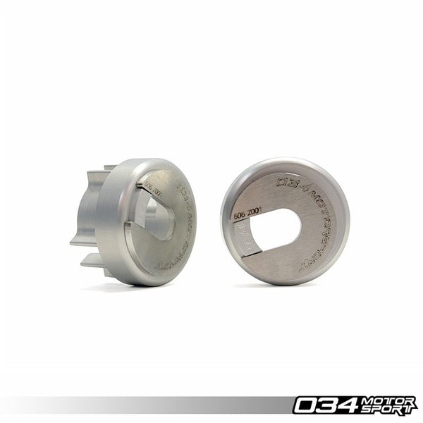 034Motorsport - 034-505-2015 - REAR DIFFERENTIAL CARRIER MOUNT INSERT KIT, BILLET ALUMINUM -- Audi (B6) A4/S4; (B7) A4/S4/RS4 -- Quattro models