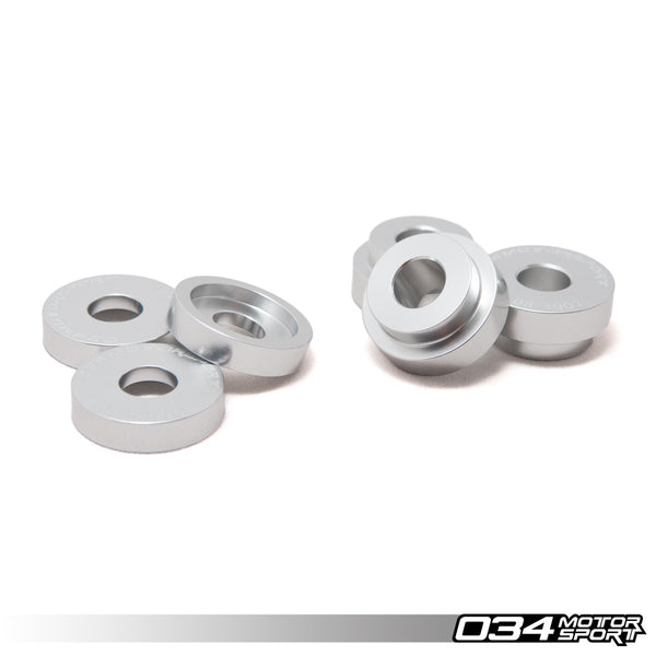 034Motorsport BILLET ALUMINUM SHIFTER BRACKET BUSHING KIT FOR MANUAL TRANSMISSIONS -- Audi (Mk1-3) A3, (Mk1-2) TT; Volkswagen (Mk4-7) Golf, Jetta, Beetle, Eos
