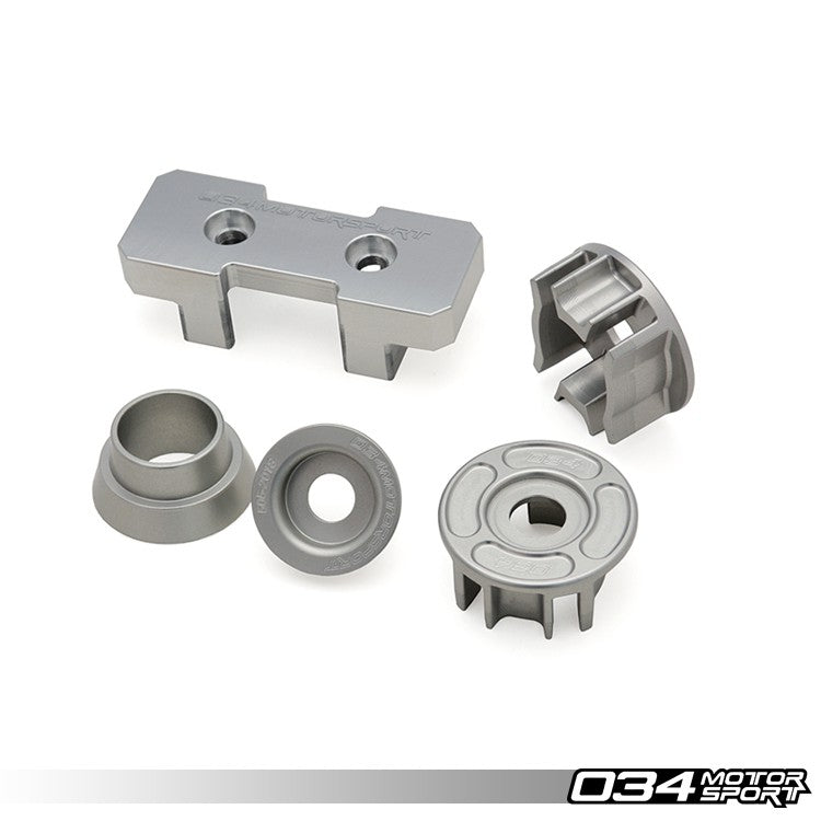 034Motorsport DRIVETRAIN MOUNT INSERT PACKAGE, BILLET ALUMINUM -- Audi (B8/B8.5) A4/S4/RS4, A5/S5/RS5, Q5/SQ5 (D4) A8/S8 -- for Quattro models